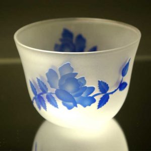 ブラスト工房 冷茶グラス 瑠璃