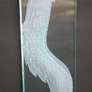 大型ガラス ブラスト工房 サンドブラスト