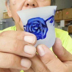 被せガラス ガラス彫刻