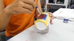 磁器 サンドブラスト加工