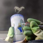 被せガラスコースレッスン3 サンドブラストガラス彫刻教室