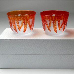 冷茶グラス 藤の花