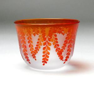 藤の冷茶グラス サンドブラスト