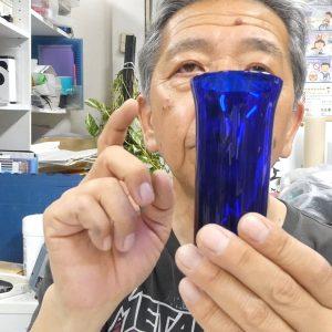 ガラス彫刻 被せガラス レッスン4