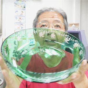 サンドブラスト 被せガラスコース12