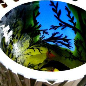 大型花びん 多層被せガラス