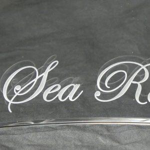 ガラス深彫り シャチ