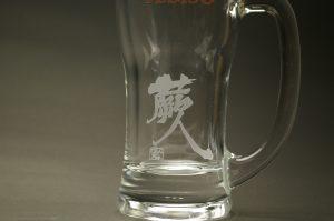 グラスの名入れ加工