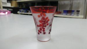 酒杯 被せガラス ブラスト工房